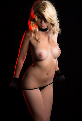 Blonde Seductress does a remarkable strip